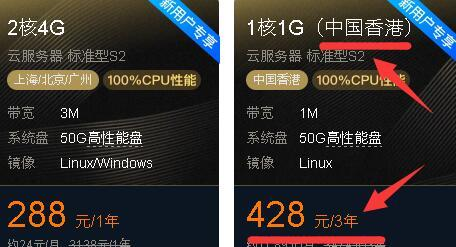 腾讯云香港VPS 三年428元 带宽提到2M